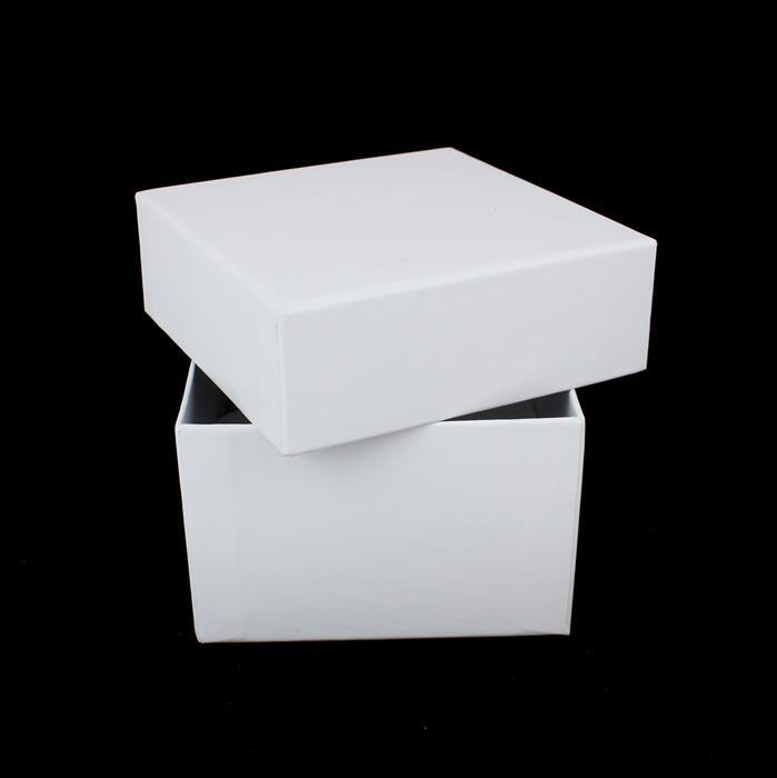 White Watch Box 85 x 85 x 55mm (WxDxH)