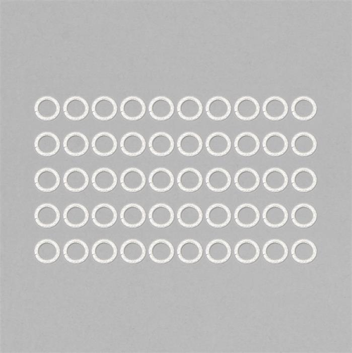 Silver Plated Copper Dot Pattern Open Jump Ring Approx 12mm (50pcs)