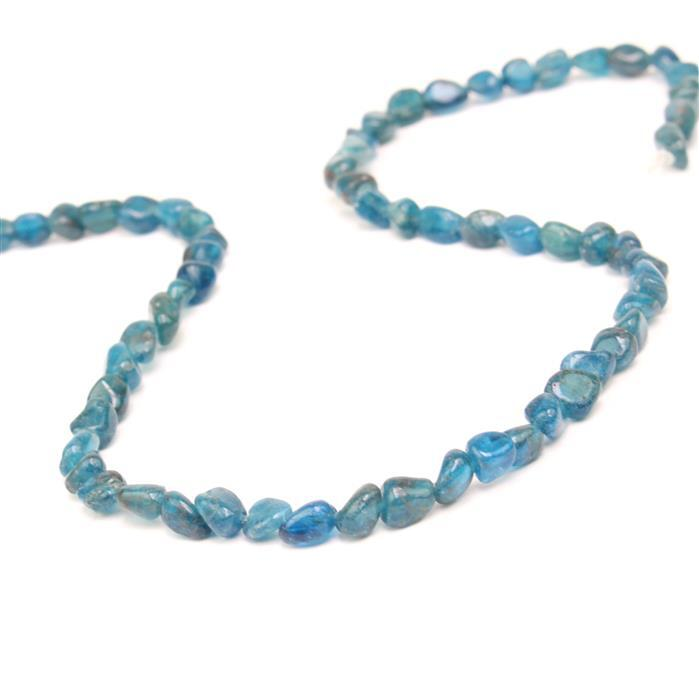 50cts Apatite Small Nuggets Approx 5x3 - 7x4mm, 38cm strand