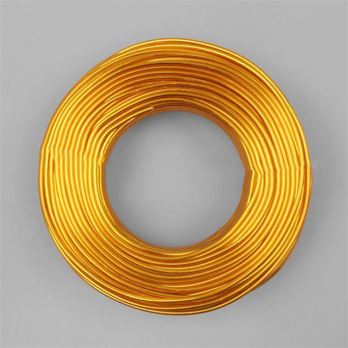 50m Gold Colour Aluminum Wire Approx 2mm