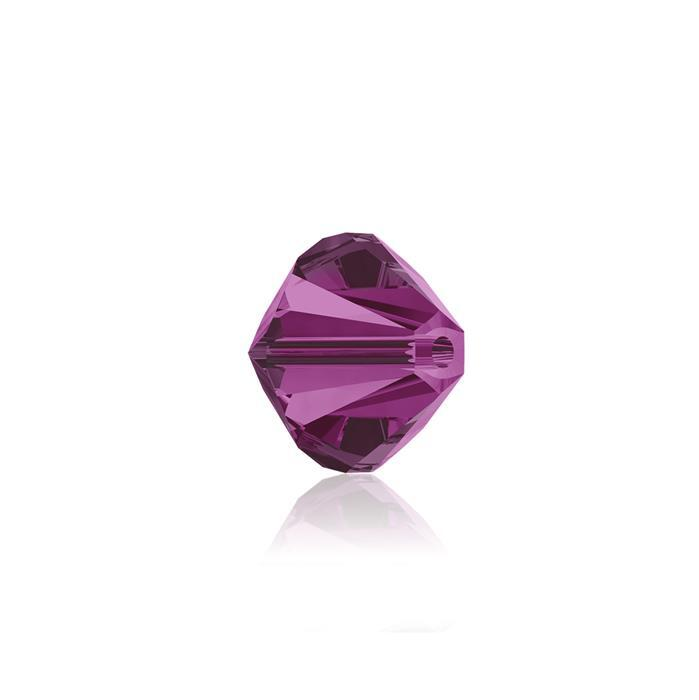 Swarovski Crystal Beads - Pack of 24 Bicones 5328 - 6mm Fuchsia