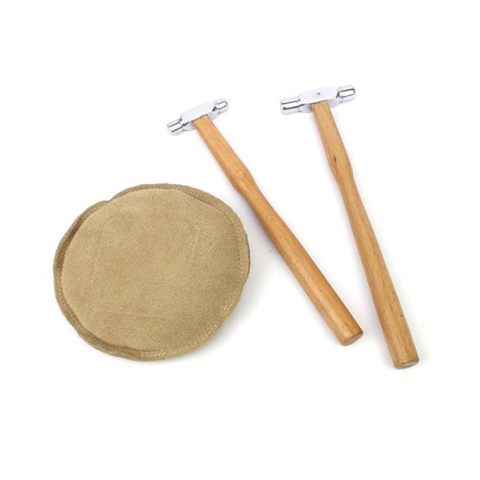 Sandy: 1oz & 2oz Ball Pein Hammers with beech wood handles & a round sand bag 5