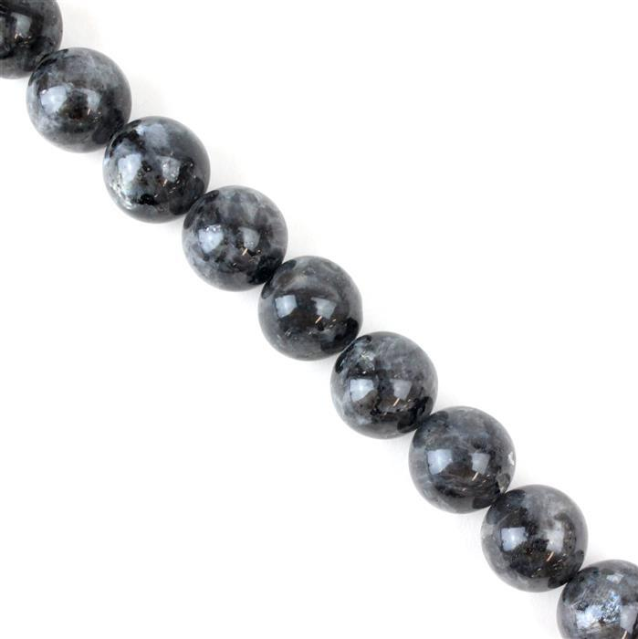 900cts Larvikite Plain Rounds Approx 18mm, 38cm strand