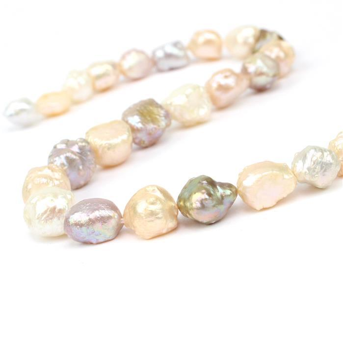 "Multi Coloured Freshwater Cultured ""Hedgehog"" Pearls Approx 8-14mm, 38cm strand"