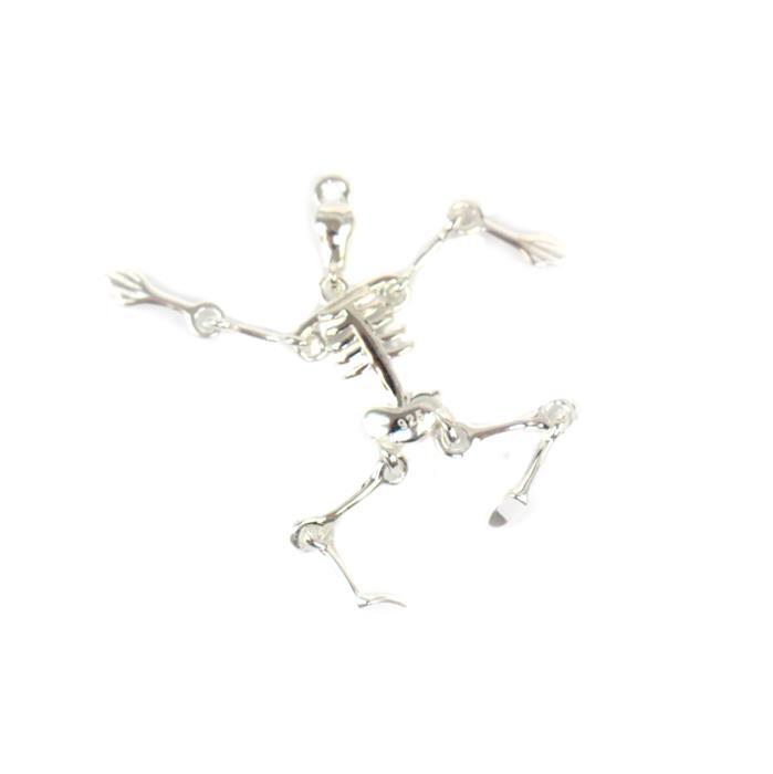 925 Sterling Silver Skeleton Charm Approx 35mm, 1pcs