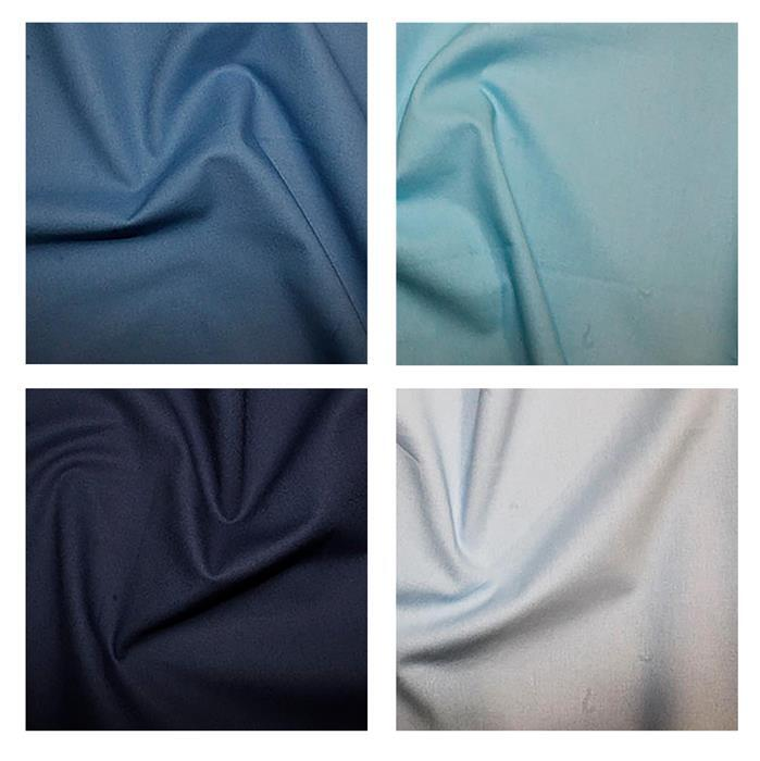 Early Bird Special - Beautiful Blues Fabric Bundle. 2m with 0.5m Free. Save £3.49