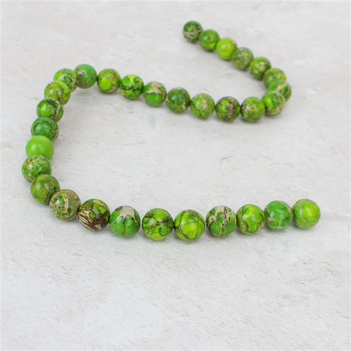 300cts Apple Green Terra Jasper Plain Rounds Approx 12mm, Approx 38cm/strand