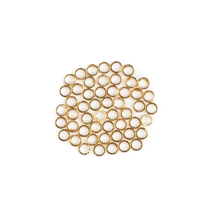 Gold Plated Brass Round Ring Spacers - 4x1mm (50pcs/pk)