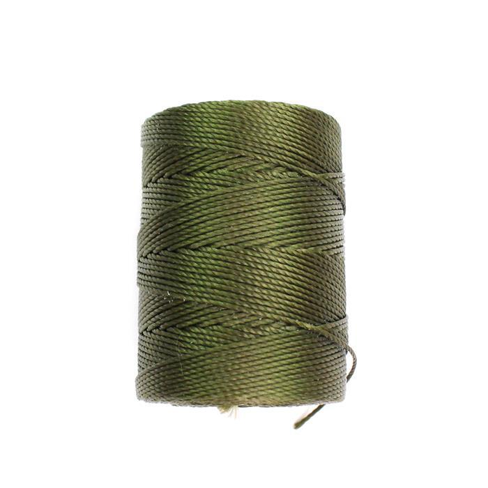 70m Green Olive Nylon Cord Approx 0.4mm