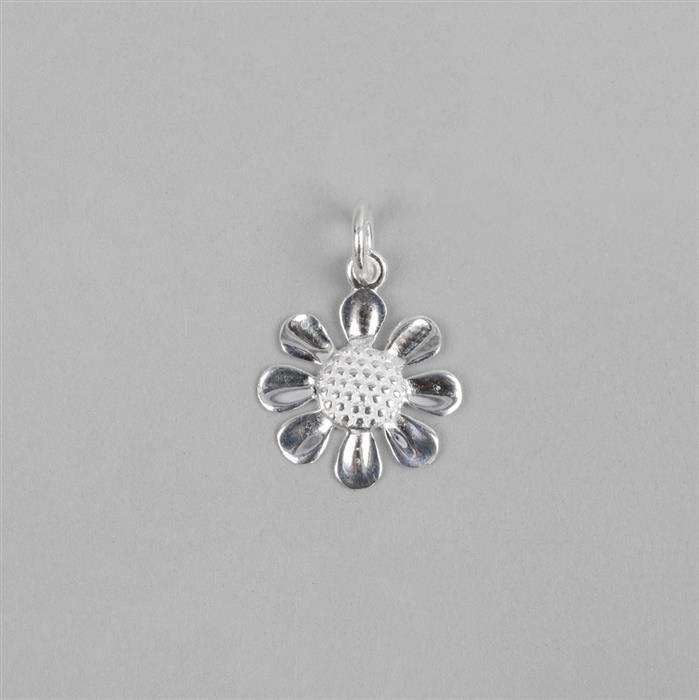Sterling Silver Daisy Pendant Approx 14mm