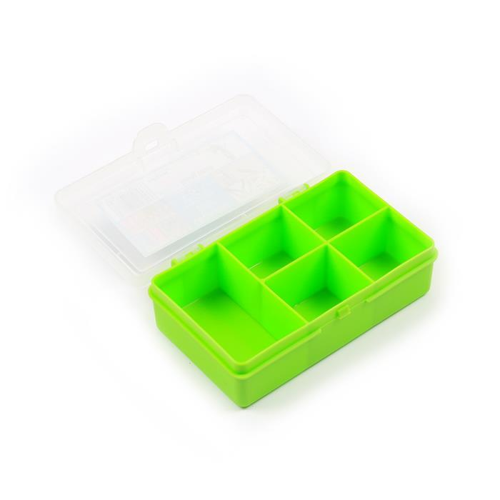 Lime Organiser Box with 5 Divisions 14.5x9.5x4cm