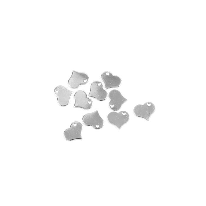 Silver Plated Brass Heart Blank Approx 15mm 10pk