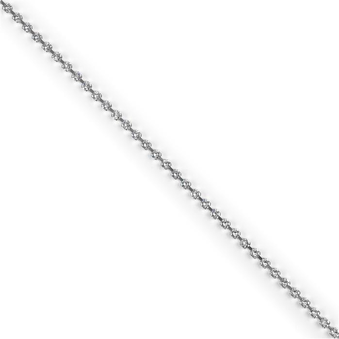 Swarovski Cupchain 27104 PP14 Crystal with Rhodium Casing - Pack of 50cm