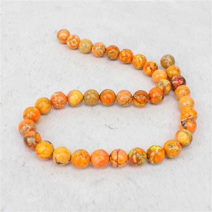 200cts Orange Terra Jasper Plain Rounds Approx 10mm, Approx 38cm/strand