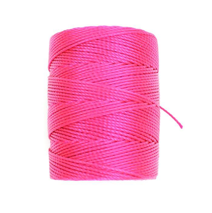 70m Fluo Hot Pink Nylon Cord Approx 0.4mm