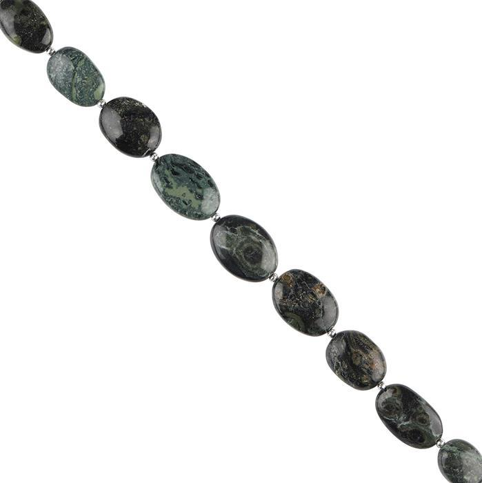 70cts Kambaba Jasper Graduated Plain Ovals Approx 13x9 to 15x11mm, 12cm Strand.