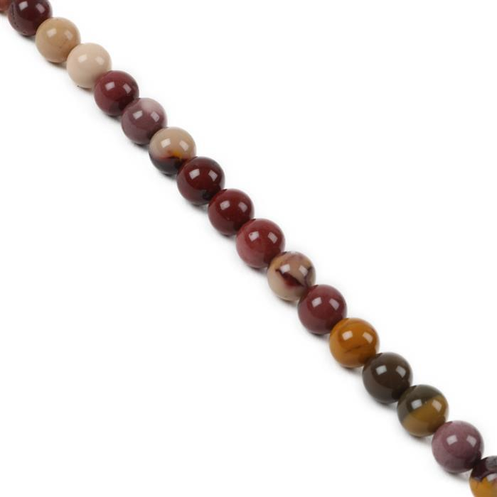 150cts Mookite Plain Rounds Approx 8mm, 38cm Strand