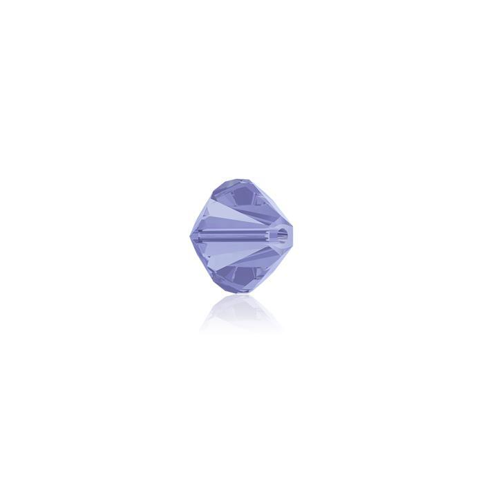 Swarovski Crystal Beads - Pack of 24 Bicones 5328 - 4mm Light Sapphire