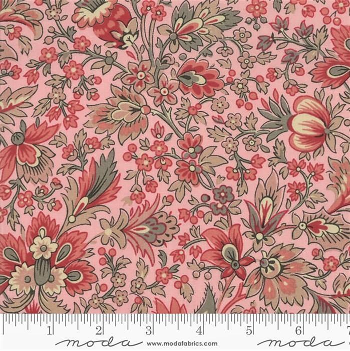 Moda Chafarcani Assorted Floral on Pale Rose Fabric 0.5m