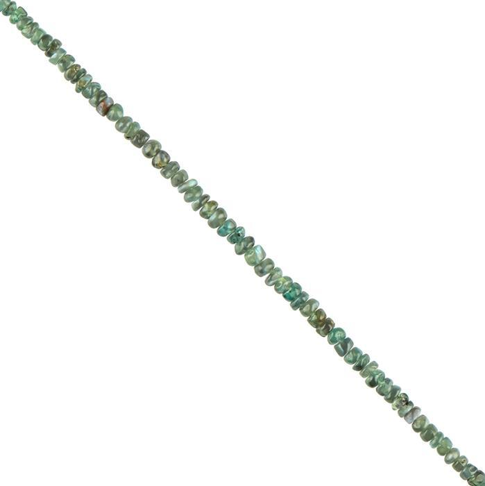 5cts Alexandrite Plain Rondelles Approx 2x1mm, 8cm Strand.