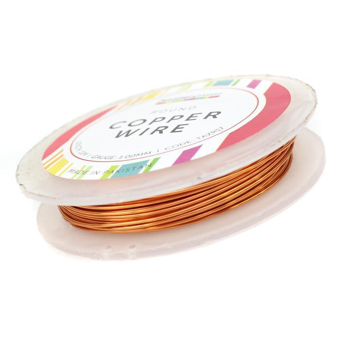 10m Round Copper Wire 1.0mm