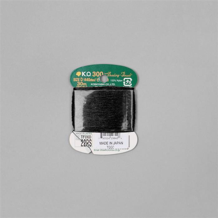 30m Black Threading Material Size D
