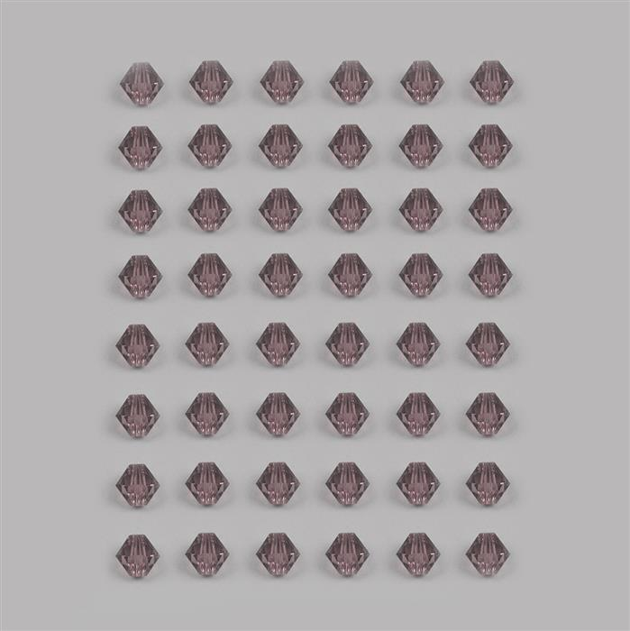 Swarovski Crystal Lilac Shadow Bicone Beads 4mm - 48pk