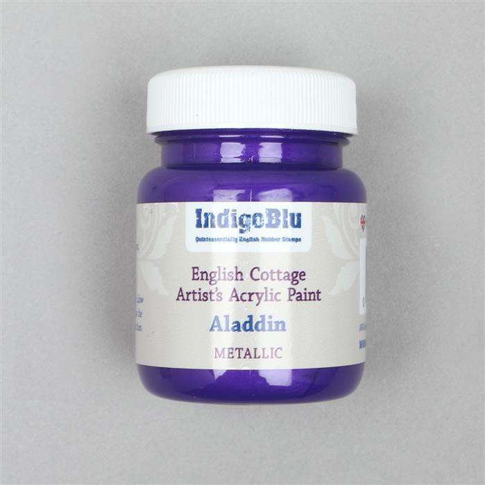 Indigoblu English Cottage Artist's Acrylic Paint Aladdin (Metallic) 60ml