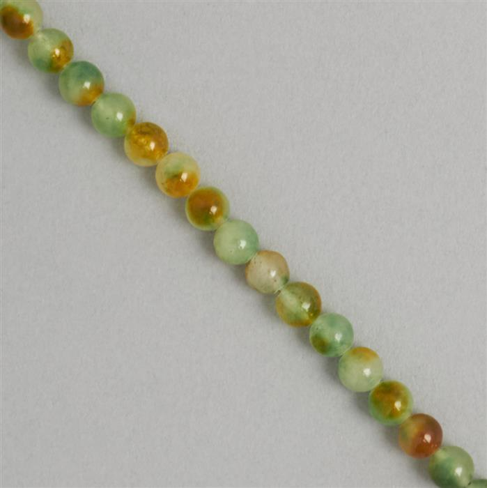 85cts Multicolour Dyed Quartz Plain Rounds Approx 6mm, 36cm Strand.