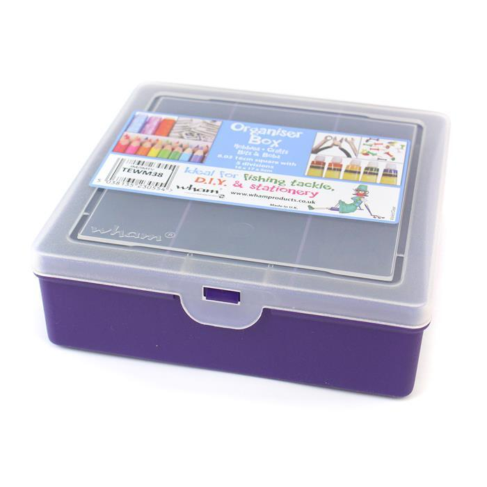 Violet Organiser with 5 divisions 8.03 Square 16x17x5cm