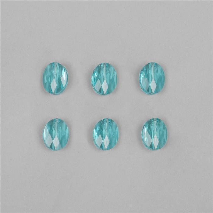 Light Turqoise Swarovski Mini Oval Beads 10x8mm 5051  6pk