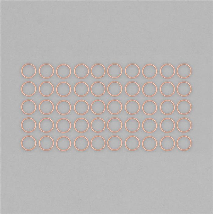 Rose Gold Plated Copper Hollow Open Jump Rings - 24mm & Thickness 2mm (50pcs/pk)