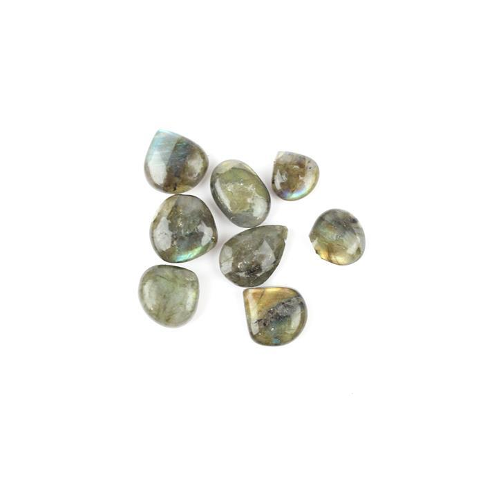 88cts Labradorite Graduated Plain Drops Approx 10 to 15mm, 19cm Strand.