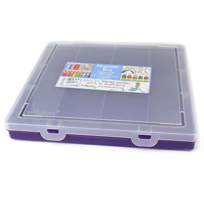 Violet Organiser with 8 Divisions 9.02 Square 23.5x24.5x3cm