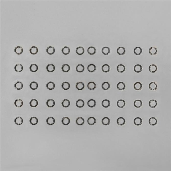 9mm Oxidised Antique Gold Plated Copper Open Jump Rings 1mm Gauge (50pcs)