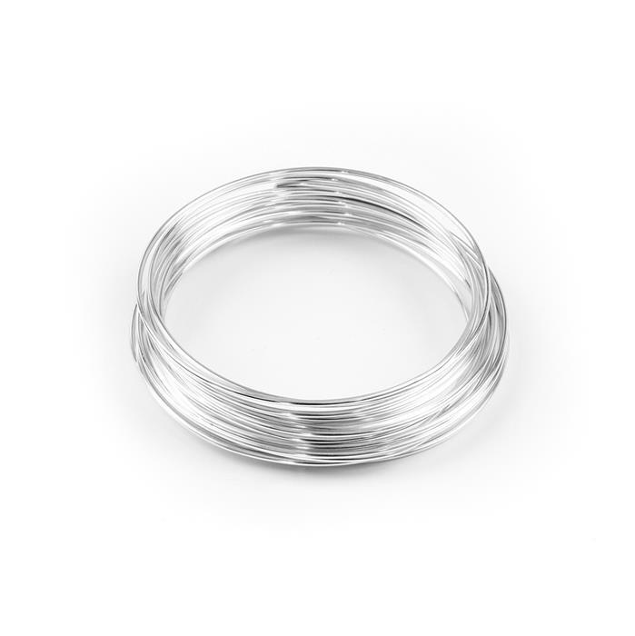 1.5m Silver Plated Copper Wire - 1.5mm