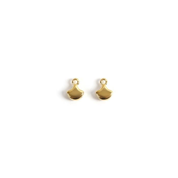 Cymbal Karavos - Ginko Bead Ending - 24K Gold Plated - Approx 10x7mm (2pk)