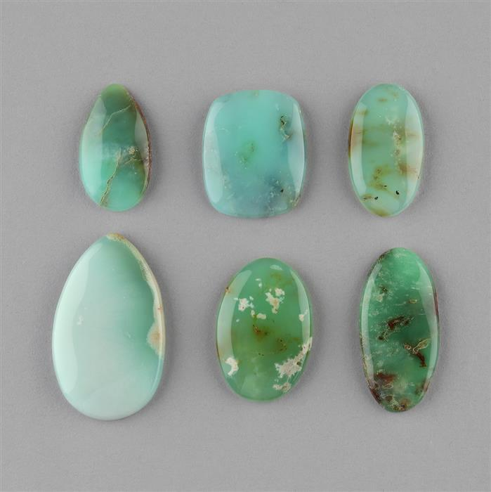 138cts Chrysoprase Multi Shape Cabochons Assortment.