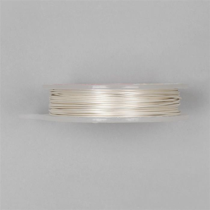 10m Pearl Coloured Copper Wire 0.80mm