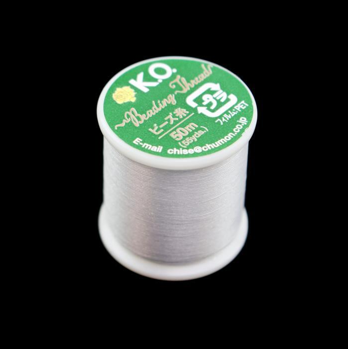 KO Beading Thread Light Grey Approx 50m
