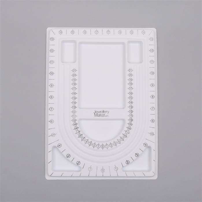 JewelleryMaker White Necklace Making Tray Approx 22x31cm