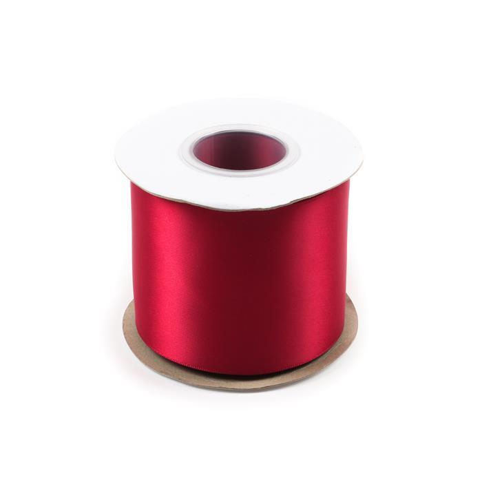 20m Scarlet Double Faced Satin Approx 75mm
