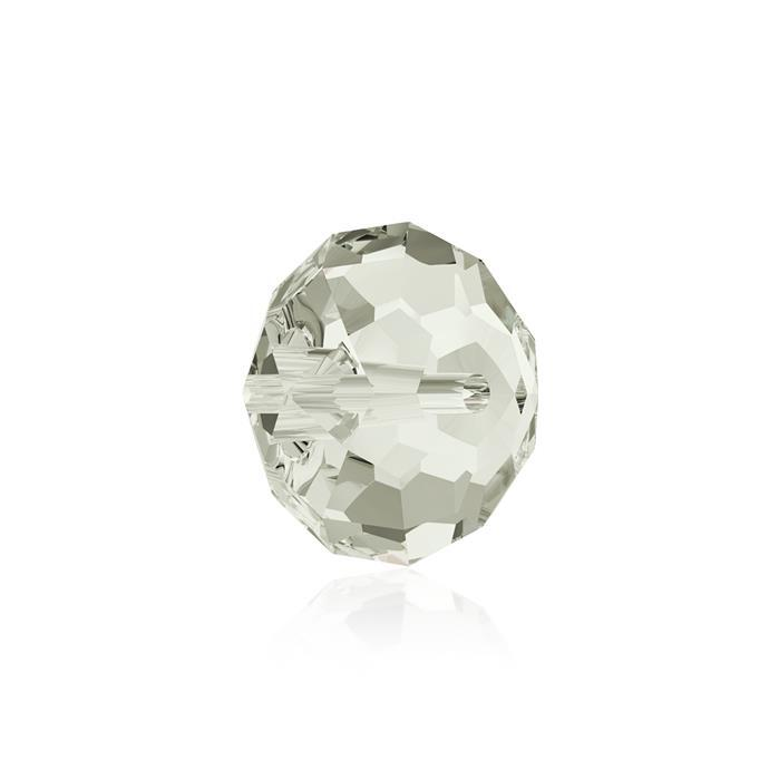 Swarovski Crystal Beads - Pack of 6 Briolette 5040 - 8mm Crystal Silver Shade