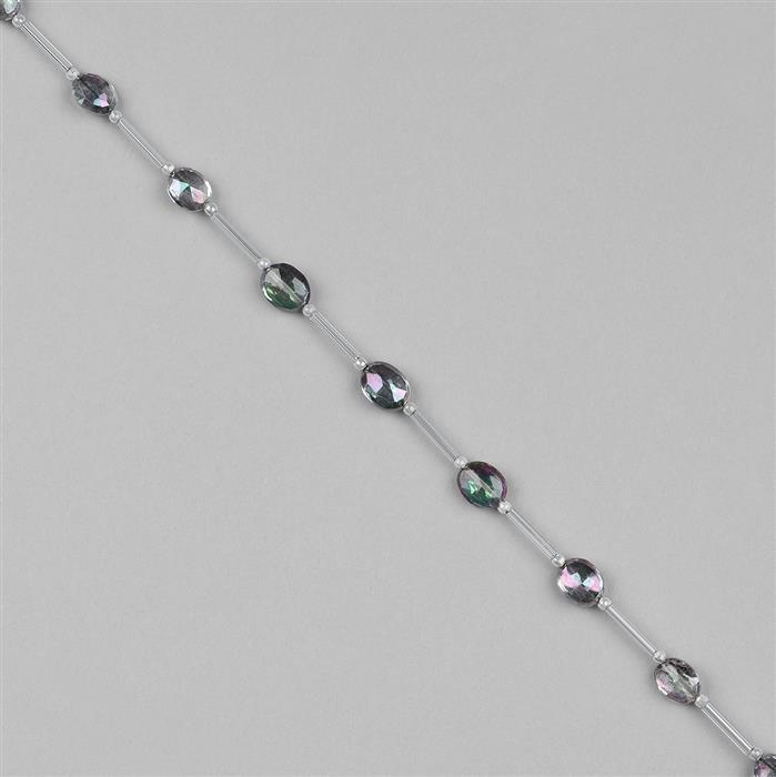 24cts Mystic Topaz Graduated Faceted Ovals Approx 7x5 to 9x7mm, 18cm Strand.