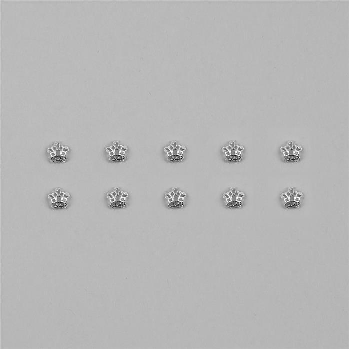 925 Sterling Silver Flower Bead Caps Approx 6mm (20pcs/Pack)