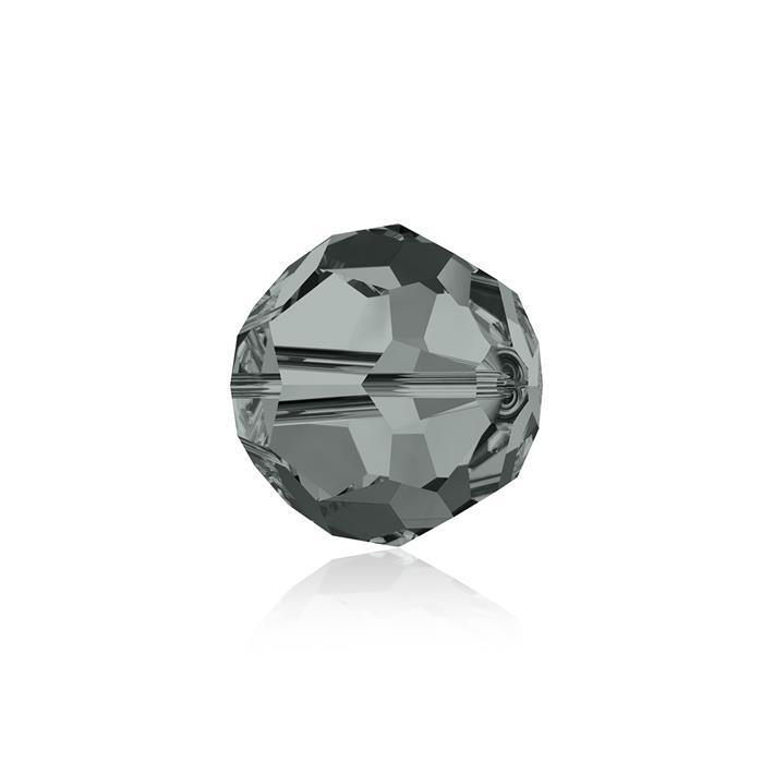 Swarovski Crystal Beads - Pack of 6 Round 5000 - 8mm Black Diamond