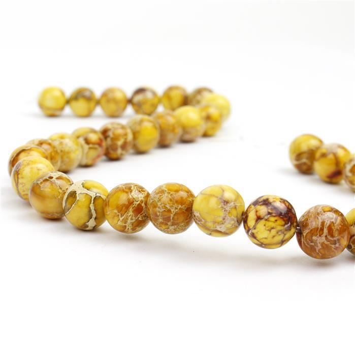 280cts Yellow Terra Jasper Plain Rounds Approx 12mm, Approx 38cm/strand