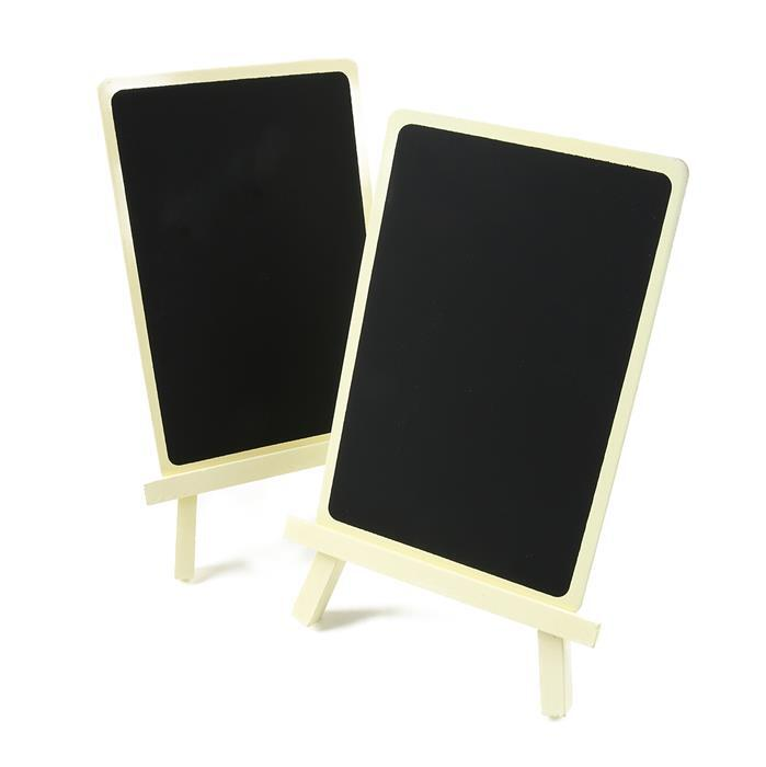 Ivory Chalkboard Stand Approx 16.5 x 11cm 2pk
