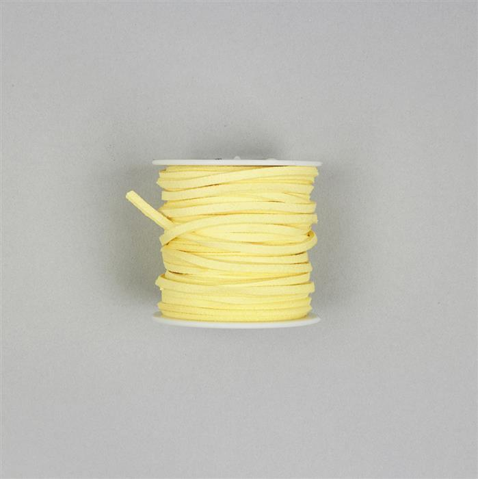 5m Yellow Suedette Cord 2.5mm
