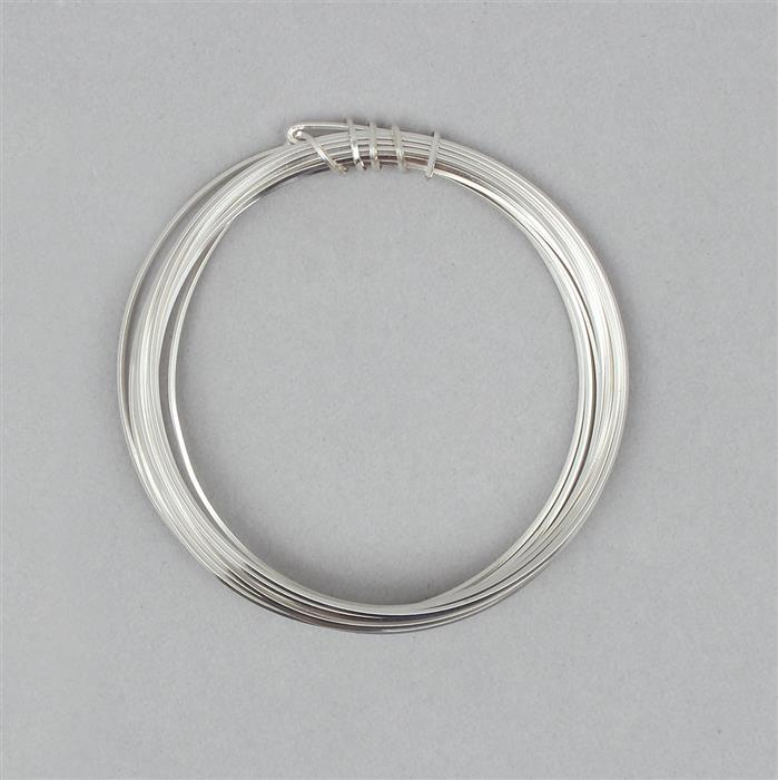 3m Silver Plated Copper Square Wire Approx 0.60mm
